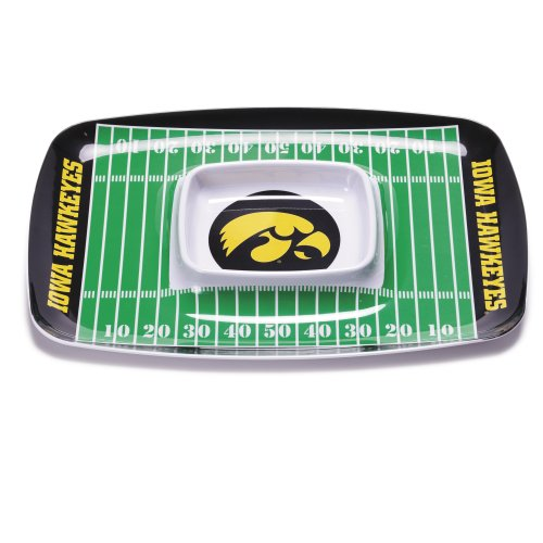 NCAA Iowa Hawkeyes Melamine Chip and Dip Tray