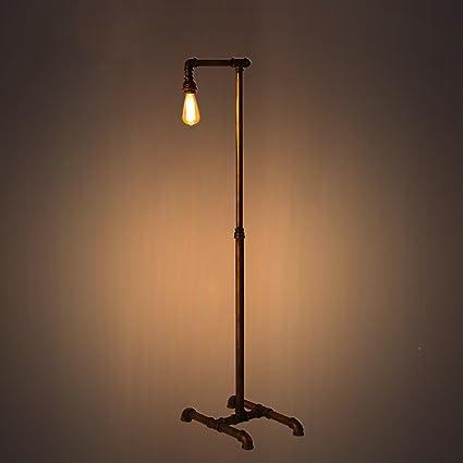 ZXLDD Lámpara de pie Vintage Retro Tubo de Agua lámpara de ...