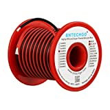 BNTECHGO 18 Gauge Silicone Wire Spool 50 feet Ultra Flexible High Temp 200 deg C 600V 18 AWG Silicone Wire 150 Strands of Tinned Copper Wire 25 ft Black and 25 ft Red Stranded Wire