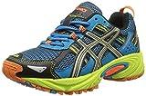 ASICS Gel Venture 5 GS Trail Running Shoe (Little Kid/Big Kid), Turquoise/Silver/Lime, 2.5 M US Little Kid