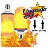 ��【Upside Down Flame Combustion! 】BHarvest Led Flame Effect Light Bulb, 6W LED Flame lamps for Outdoors, Vintage Atmosphere Decorative LED Flame Light Bulb, Bar,Wedding, Festival Decor