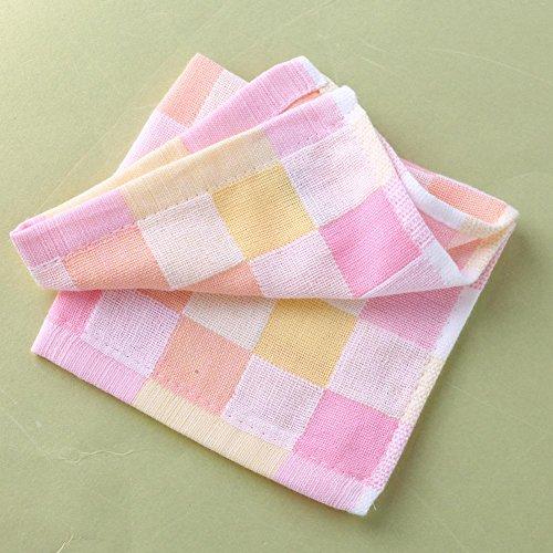 Baby Small Plaid Cotton Towel Bibs - 8