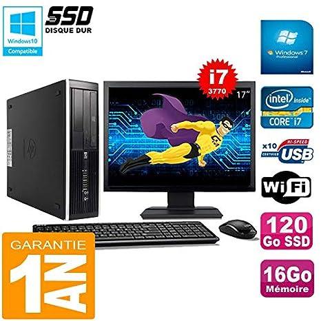 HP PC Compaq Pro 6300 SFF I7-3770 16GB 120GB SSD Grabadora DVD ...