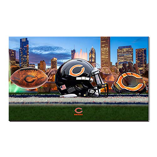 - Acrylic Super Bowl NFL Chicago Bears Football Logo Soldier Field Sports Artist Landscape Poster Oil Painting Giclee Canvas Cotton Prints Picture Wall Art Acrylic Artwork Home Decor Gift