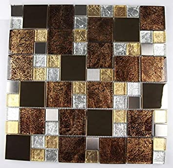 11 Paillasson Marron 1 M Verre Carrelage Mosaique Verre