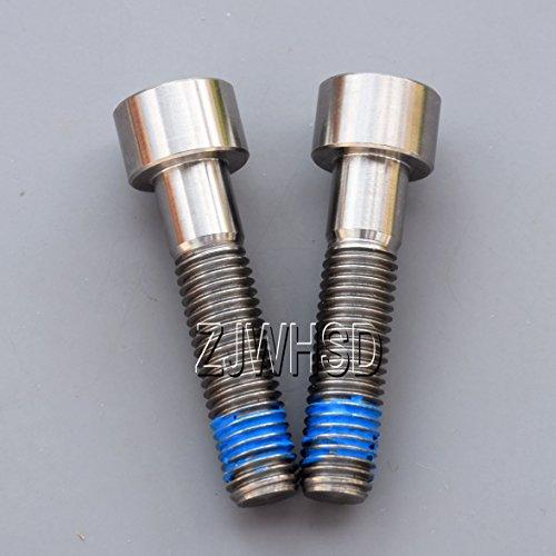 2個入 M9 x 1.25 x 50 mm チタン合金 TI 円柱 六角穴付 ボルト ネジ ねじ +靑い ねじゆるみ止め剤 高強