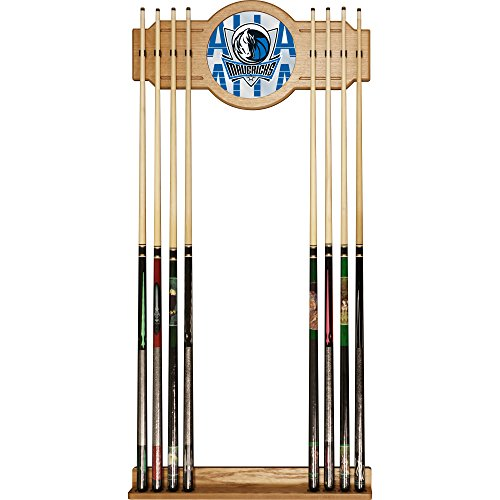 Trademark Gameroom NBA6000-DM3 NBA Cue Rack with Mirror - City - Dallas Mavericks by Trademark Global