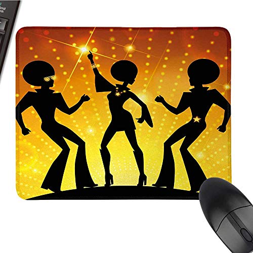 70s PartyCustomize Mouse padDancing People in Disco Night Club with Afro Hair Style Bokeh BackdropCustomized Mouse Pad 9.8