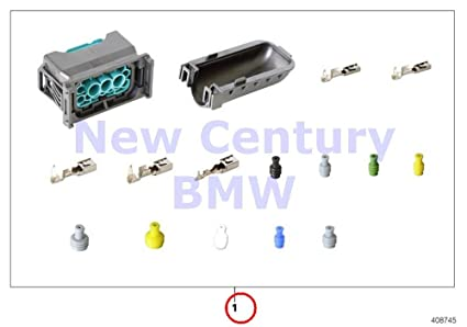 bmw genuine headlight wiring harness repair rep  kit for socket housing 12  pol  318i