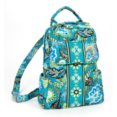 Small Quilted Backpack Paisley Pattern