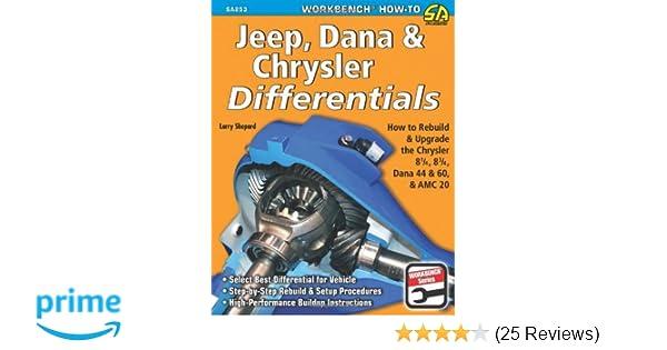 jeep dana chrysler differentials how to rebuild the 8 1 4 8 3 4 rh amazon com AMC Model 20 Rear Axle AMC 20 Axle Truss