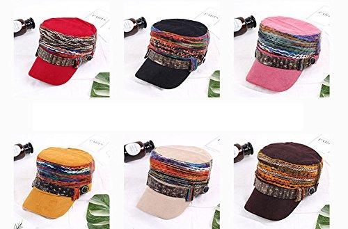 76a8903db1458 Baseball Caps   Hats Womens Baseball Cadet Cap Flat Top Hat ...