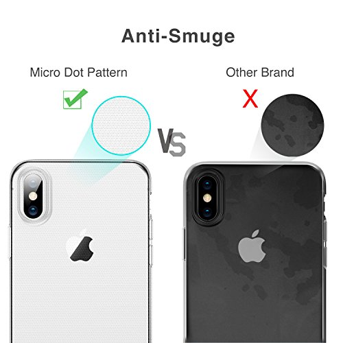 """ESR Crystal Clear Soft TPU iPhone X Case, Thin Fit Transparent Flexible Premium TPU Cover [Support Wireless Charging] for Apple 5.8"""" iPhone X (2017 Release)(Clear)"""
