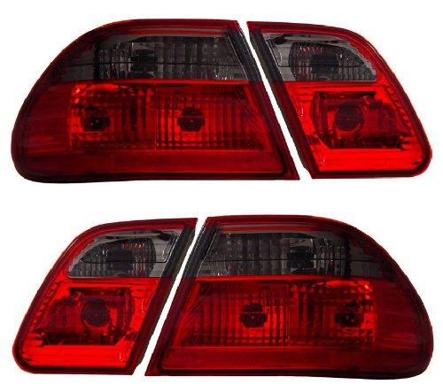 (MBZ E CLASS W210 00-02 TAIL LIGHT G2 RED/SMOKE (W/O LED) NEW)