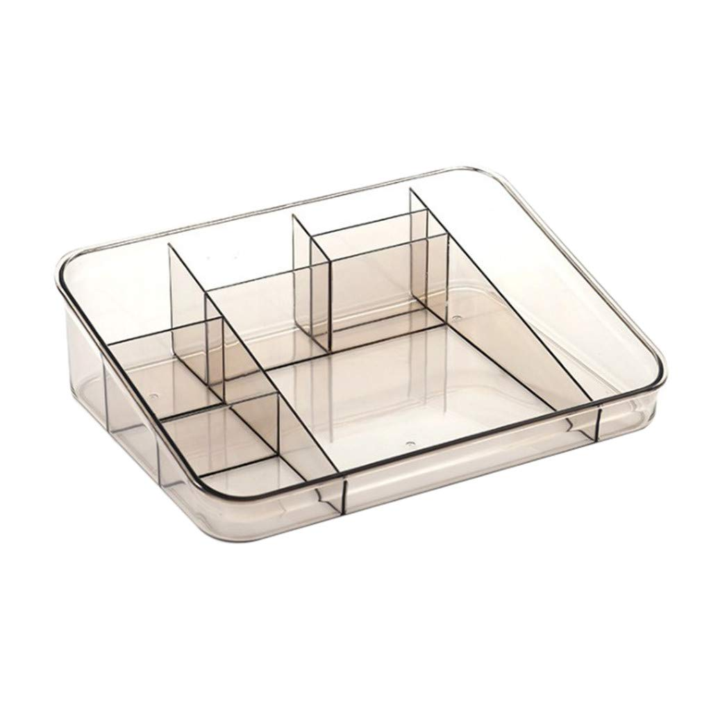 Staron  Transparent Cosmetic Skin Care Products Plastic Storage Rack Desktop Storage Box for Lipstick, Brushes, Bottles (Coffee)