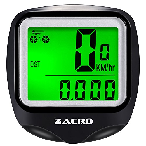 Zacro Bike Computer, Original Wireless Bicycle Speedometer with Backlight, Multi FunctionBike Odometer Cycling
