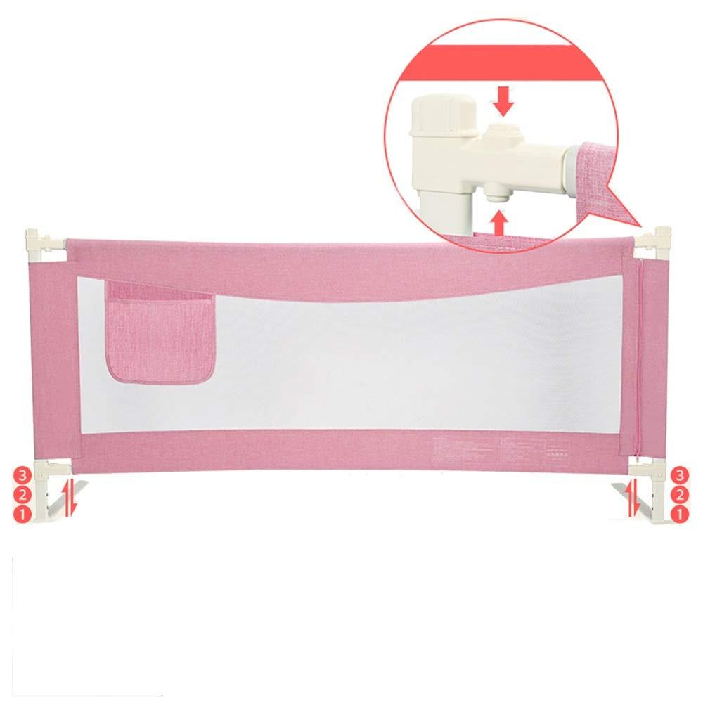 LHA ベッドガードフェンス 縦の持ち上がるベッドのガードレール、赤ん坊がベッドから落ちることを防ぐための赤ん坊の安全ベッドのバッフル-150cm、180cm、200cm (Color : Pink, Size : L-180cm) L-180cm Pink B07SXCZJQS