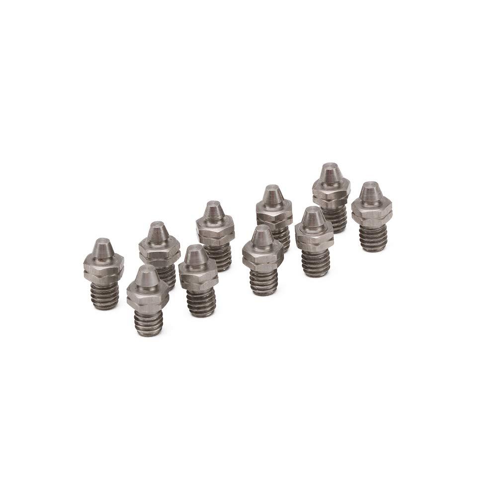 JFG RACING Denti poggiapiedi di ricambio per poggiapiedi in acciaio inossidabile M4*0.7-10 pz
