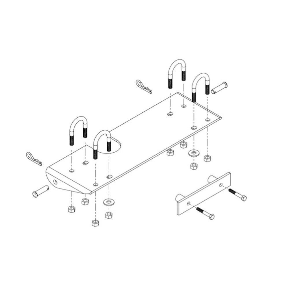 97-18 HONDA TRX250REC: Kolpin Mid Frame Plow Mount Kit