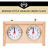 BETTERLINE Analog Chess Clock Timer | Professional-Grade Wooden Clock | Wind-Up Mechanism | Large Easy-to-Read Dials | No Battery Needed | by Better Line