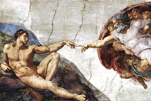 Michelangelo Creation of Adam Art Poster Print