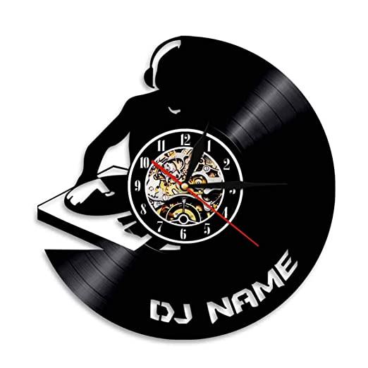 SSCLOCK Tocadiscos Música Arte de la Pared Decoración del hogar DJ ...