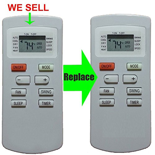 Replacement for Soleus Air SoleusAir Air Conditioner Remote Control YX1FF YX1F Works For GH-PAC-10E5 by Generic