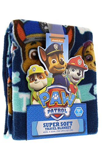 Paw Patrol Super Comfy & Soft Travel Blanket/Throw with PAWfect Team Design 40