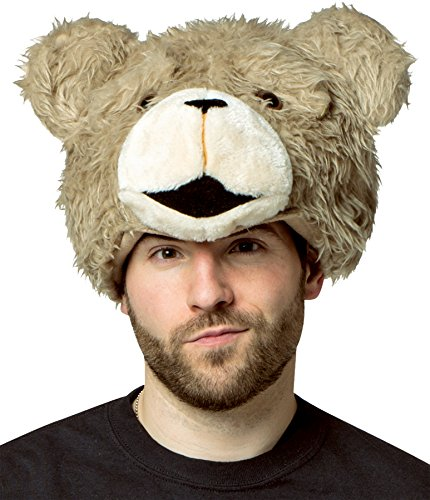 Ted The Movie Hat Adult (UHC Cuddly Teddy Bear Ted 2 Movie Plush Hat Headpiece Halloween Accessory)