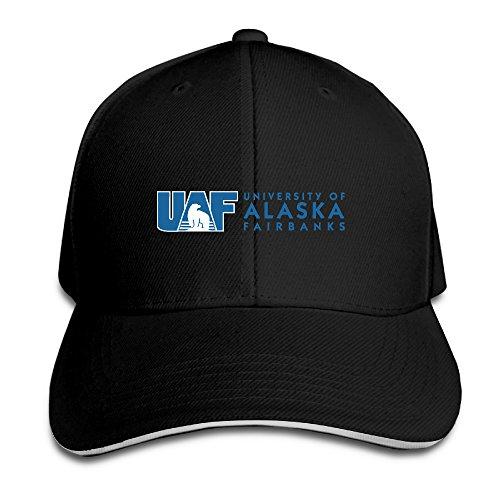 101dog University Of Alaska Fairbanks Logo Unisex Adjustable Sandwich Peaked Hat & Cap