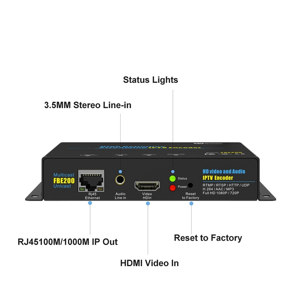 FMUSER H.264 Live HDMI Video Encoder, Full 1080p RTMP IPTV Encoder, Live Stream Broadcast on Facebook Youtube Ustream Wowza Streaming Platforms by fmuser (Image #4)