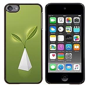 YiPhone /// Prima de resorte delgada de la cubierta del caso de Shell Armor - Pirámide de la Vida - Apple iPod Touch 6 6th Touch6
