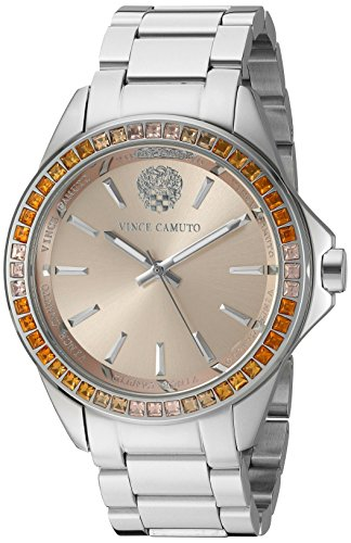 Vince Camuto Women's VC/5289LPSV Swarovski Crystal Accented Silver-Tone Bracelet Watch