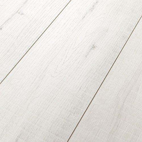 Kronotex Villa Gala Oak White 12mm Laminate Flooring SAMPLE