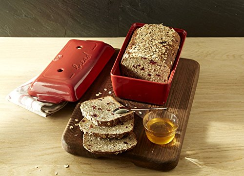 2-Piece Set: Emile Henry Covered Bread Loaf Baker, 9.4 x 5-Inch, Burgundy, Mure and Peyrot Bread Scoring Lame - Bundle by Mixed (Image #4)