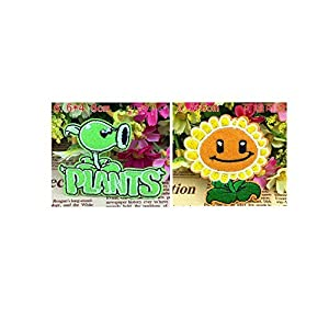 Plants Vs Zombies Embroidered Iron/sew on Patch Cloth Applique Set of 2 (Plants)