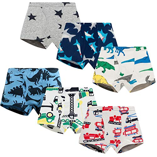 Boboking Little Boys Boxer Briefs Dinosaur Truck Shark Toddler Kids Underwear