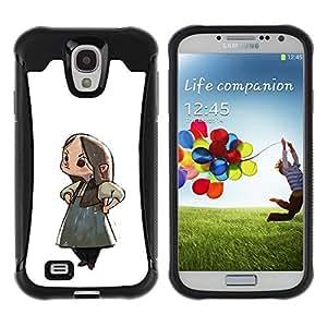 Suave TPU GEL Carcasa Funda Silicona Blando Estuche Caso de protección (para) Samsung Galaxy S4 IV I9500 / CECELL Phone case / / Japanese Anime Girl Cartoon Big Eyes Art /