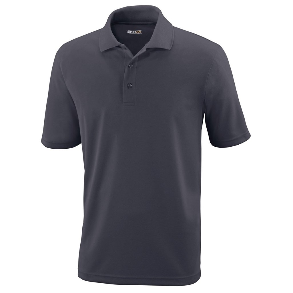 Ash City Mens Origin Polo Performance Shirt (Large, Carbon) by Ash City Apparel