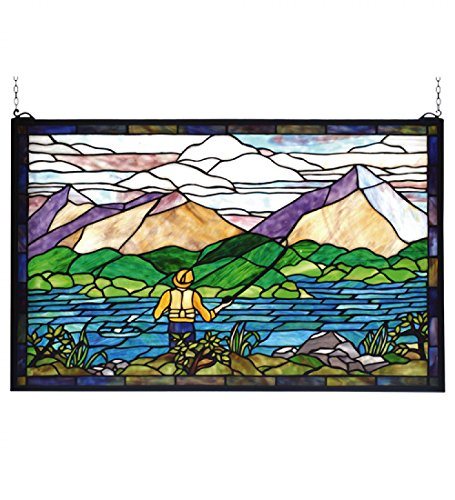 Fly Fishing Stained Glass Window - 30