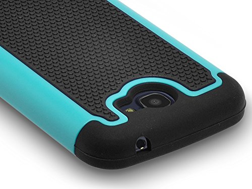 Alcatel One Touch Fierce 2 Case, RANZ® Black/Mint Heavy Duty Dual Layer Armored Hybrid Case Cover For Alcatel One Touch Fierce 2 / Alcatel 7040T (T-Mobile/MetroPCS) / POP ICON A564C (Straight Talk/TracFone)