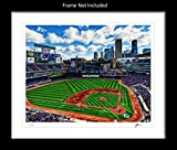 Ombura Minnesota Twins Wall Decor Art Print. Home Décor Painting Memorabilia. Target Field. Gift Idea For Any Fan Men Women Father's Day Birthday Bedroom Home Bathroom Man Cave. 8x10. Frame Not Incl.