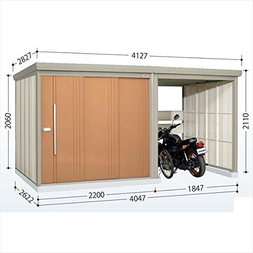 タクボ物置 TP/ストックマンプラスアルファ TP-40R26 一般型 標準屋根 『駐輪スペース付 屋外用 物置 自転車収納 におすすめ』 トロピカルオレンジ B00V5L0HM4