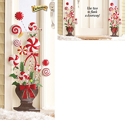 Peppermint Candy Cane Topiary Wall (Xmas Cane)