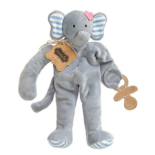 Mud Pie Pacifier Cuddler Elephant