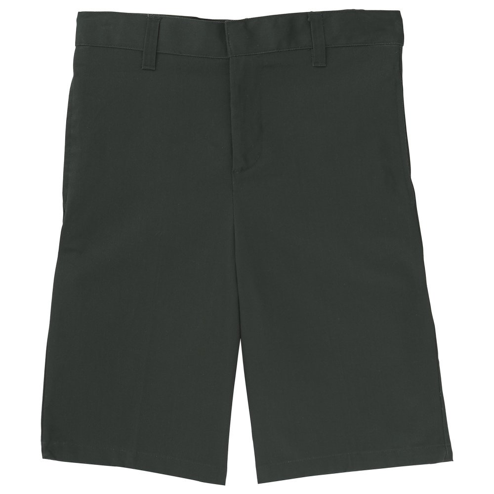 French Toast Boys' Husky Flat Front Short, Hunter Green 14H by French Toast (Image #1)