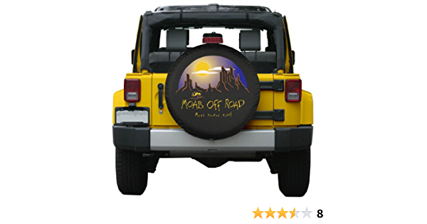 Fjb11 Spare Tire Cover Waterproof Trailer Hawk On The Tree Printed Wheel Accessories Protector Truck Ect Universal Tire Covers Fit Jeep 14,15,16,17 Inch SUV RV
