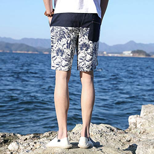 Droite Vetement Coupe Calecon Sport Homme Plage Pantalons Bain Shorts Pants De Classique Bleu Short Taille Natation Jogging Mince Haute Loose qUgSfO