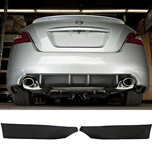 (Bumper Splitter Fits 2009-2015 Nissan Maxima | ST Style Rear Bumper Lip Aprons 2 Piece by IKON MOTORSPORTS | 2010 2011 2012 2013)