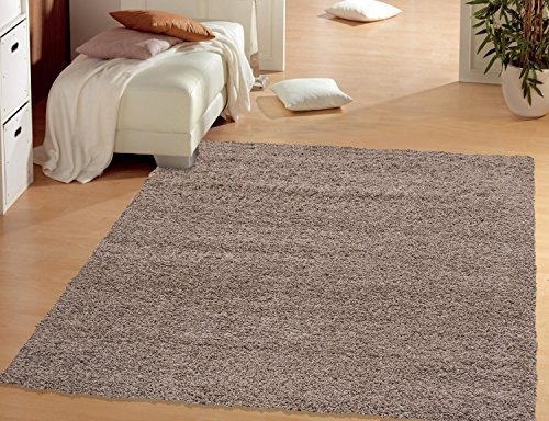 Cozy Shag Collection Shag Rug Contemporary Living and Bedroom Soft Shaggy Runner Rug (6'7'' X 9'3'', Beige) by Sweet Home Stores